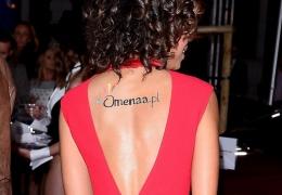 Tatuaż Omeny promuje stronę omenaa.pl